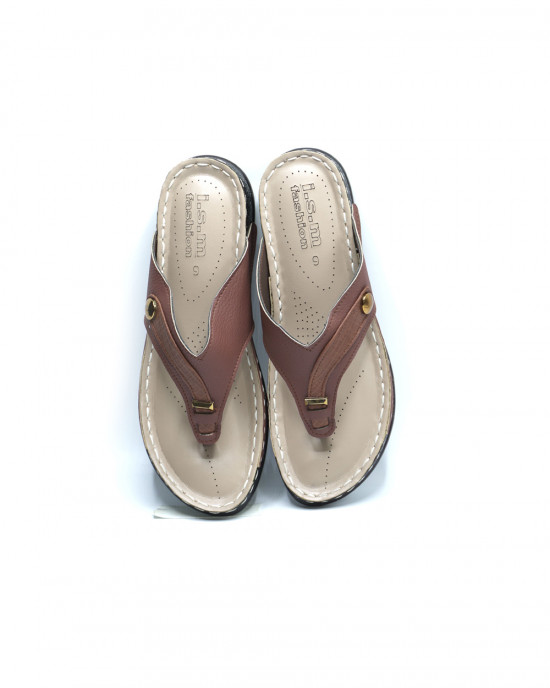 Comfy Fancy Button Slippers - Mustard
