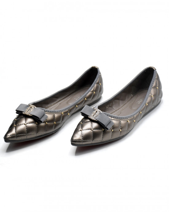 Bow & Studs Embellished Pointed Toes