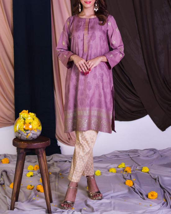Oriental screen printed kurta