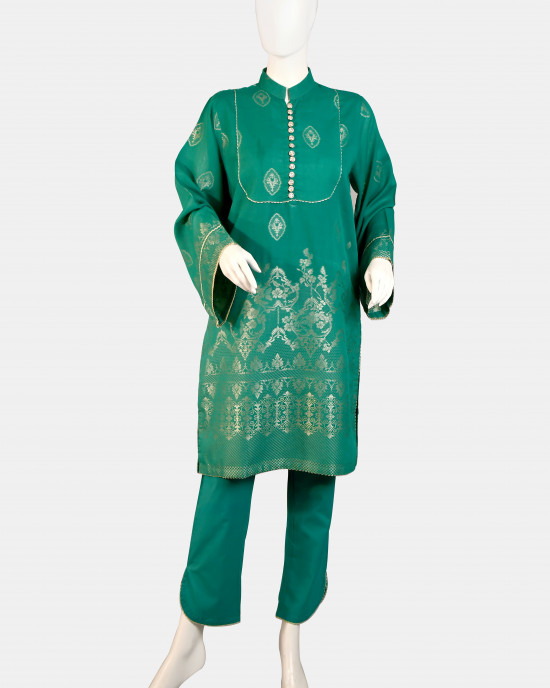 Self Jacquard 2PC Suit