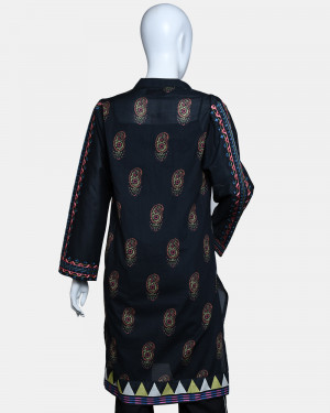 Digital Printed with Embroided Lawn Kurta
