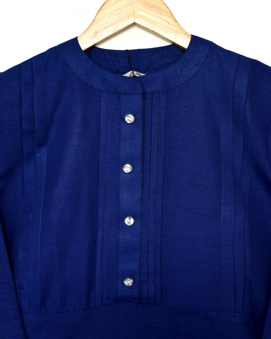 Cobalt Blue Raw Silk Kurta