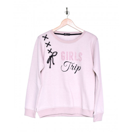 Solid Coloured Sweatshirt With Print