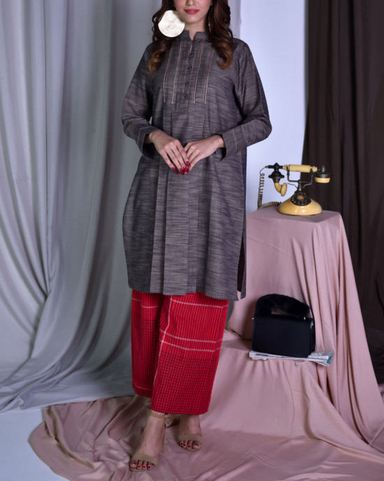 Grey Gloom (Basic Kurta)