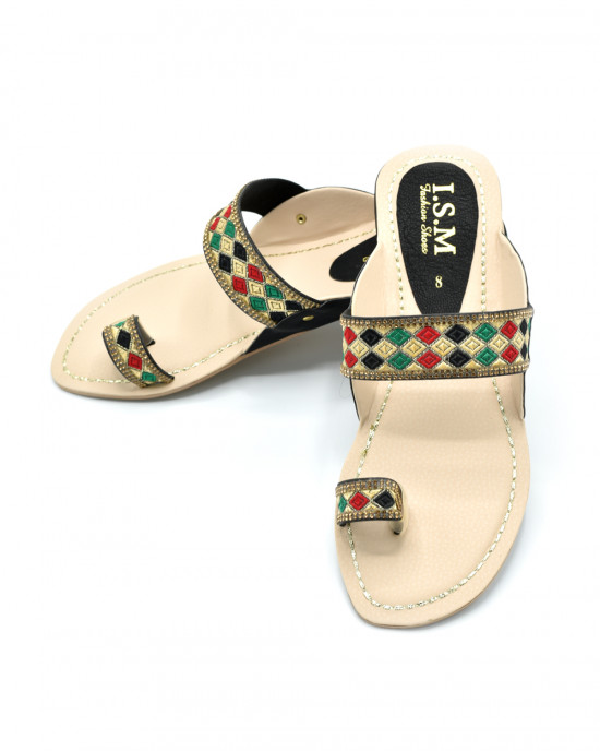 Ladies Kolhapuri Slipper Art # 50-55 (SNFT)