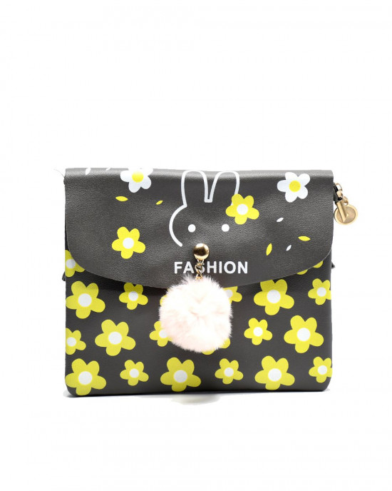 Funny Bunny Floral Print Pouch