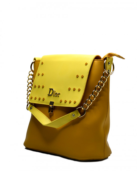 Fancy Gold Chain Strap Handbag