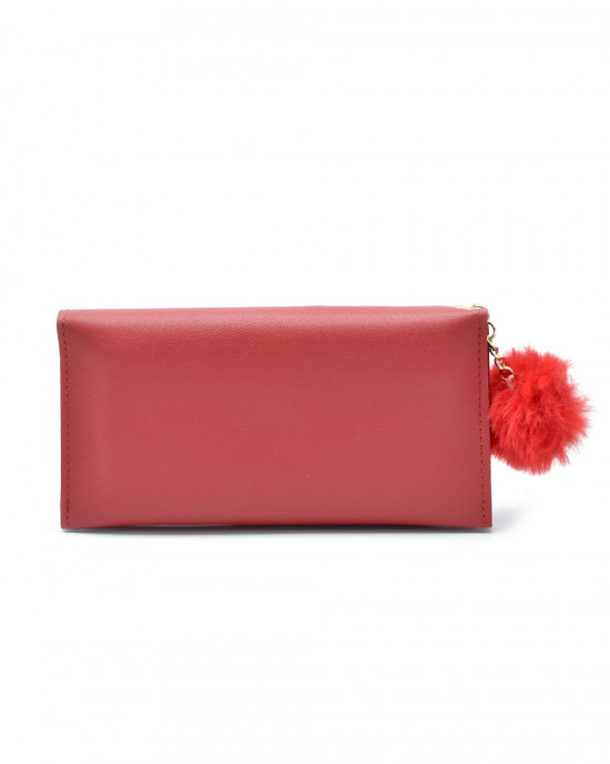 Butterfly Hopscotch Thread & Sequence Wallet - Red
