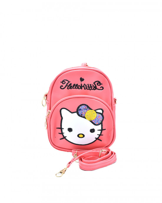 Adorable Hello Kitty Backpack - Dark Pink