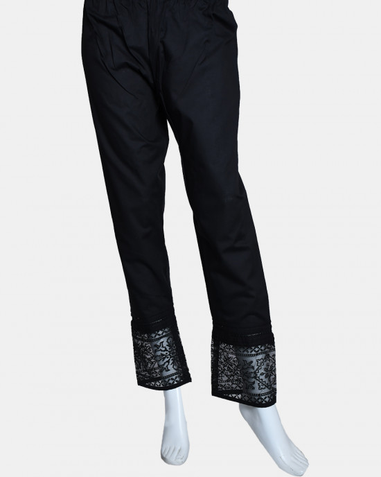 Woven Embroidered Trouser