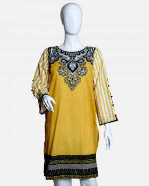 Digital Printed Lawn Kurta