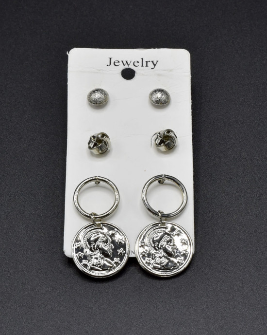 Assorted Earrings in Silver