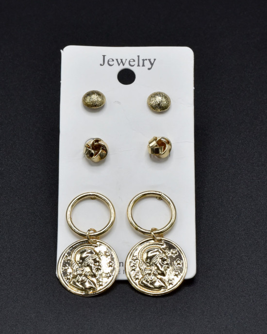 Assorted Earrings in Gold