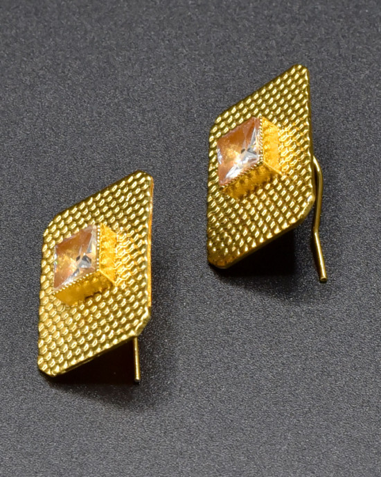 Champagne Textured Earrings